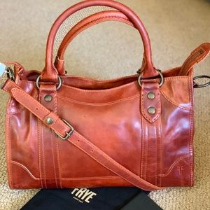 Frye Melissa Satchel ( Red Clay)